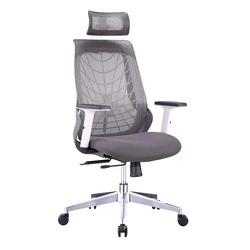 כסא מנהל עכביש רשת צבע לבן