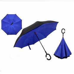 מטריה מתהפכת כחול/אפור/אדום