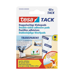 מדבקות שקופות דו צדדי רב פעמיות TESA