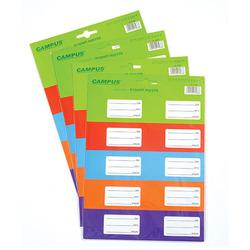מדבקות למחברת צבעי יסוד 3 דפים CAMPUS