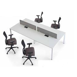 שולחן כתיבה לבן דגם בנצ' דמו