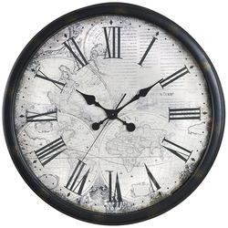 שעון קיר מפת עולם קוטר 50 ס'מ ZA-4402