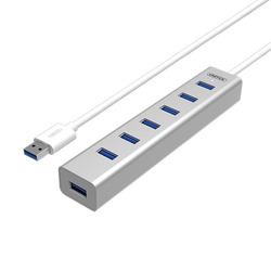 מפצל מטען 7 יציאות כולל ספק USB 3.0