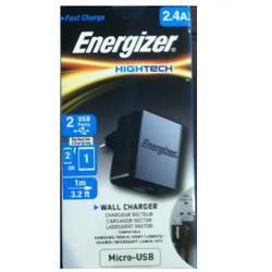 מטען חשמל אנרגיזר 2.4A כולל כבל MicroUSB