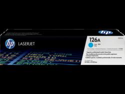 טונר לייזר HP CE311A כחול 1000 דף (126A)