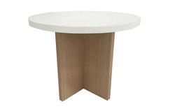 שולחן המתנה עגול צלב עץ