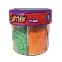 אבקת חול צבעים זוהרים 6 צבעים 50 גרם
