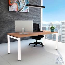 שולחן כתיבה עץ דגם ספיר רגל לבנה