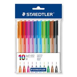עט כדורי שטדלר סט 10 יח' צבעוני 43235MPB