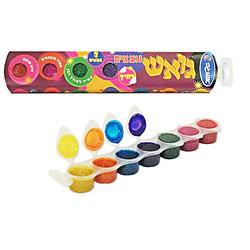 סט צבעי גואש נצנצים אומגה 7 צבעים