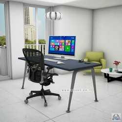 שולחן מנהלים מעוצב דגם Keren רגל כסופה