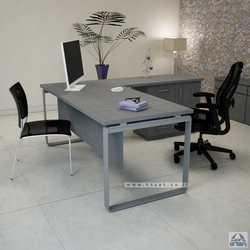 שולחן מנהלים פינתי דגם NIRO בגודל 160X160 רגל כסופה