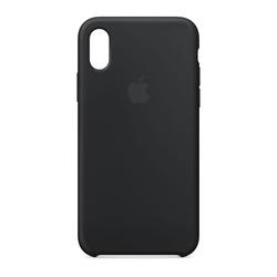 מגן כיסוי סיליקון iPhone X שחור