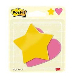 מדבקות תזכורת לב וכוכב 30 דף POSTIT BC-2030-SH-EU