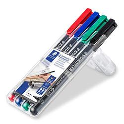 סט טוש לשקפים שטדלר 4 צבעים STAEDTLER Lumocolor SET 313 S