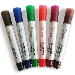 סט טוש ללוח זכוכית 6 צבעים Bclear