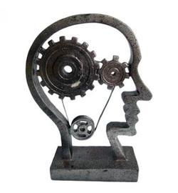פסל אומנותי - גלגלי המוח (ראש האדם)