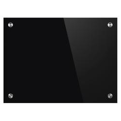 לוח זכוכית מחיק מגנטי שחור BI-OFFICE עובי 4 מ'מ