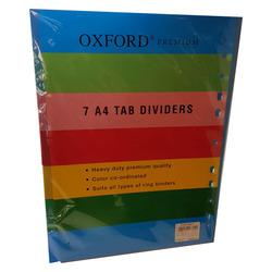 חוצצים פלסטיק עבים 1-7 A4 OXFORD