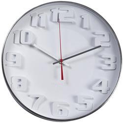 שעון קיר דגם ציריך לבן מסגרת כרום ZA-2496