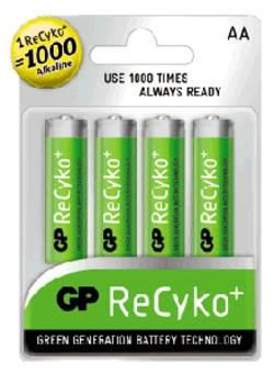 סוללות נטענות GP AA 2700mAz ReCyko