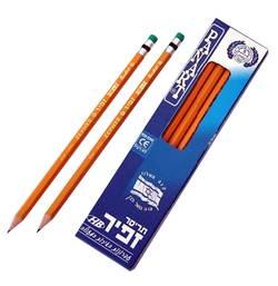 עפרון משרדי זפיר + מחק 12 יחידות