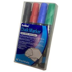 סט טוש גיר ללוח זכוכית Artline סט 4 צבעי בסיס