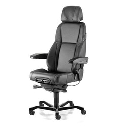 כיסא מנהלים משרדי אורטופדי K4 עור שחור 204241, כסאות מחשב למשרד