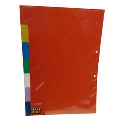 חוצצים פלסטיק עבים 1-7 פוליו צבעונים
