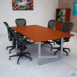 שולחן ישיבות יוקרתי דגם  DIAMOND רגל כסופה