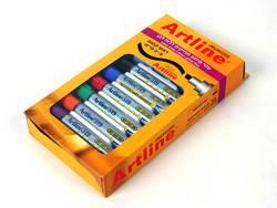 סט אורגנייזר ארטלין 6 צבעים + מחק 519