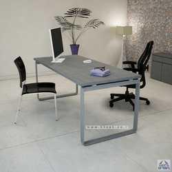 שולחן כתיבה יוקרתי דגם NIRO רגל כסופה ללא מיסתור