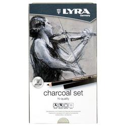 סט 11 עפרונות פחם LYRA charcoal set
