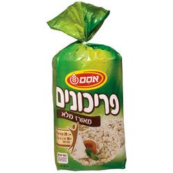 פריכונים אורז מלא אסם 140 גרם