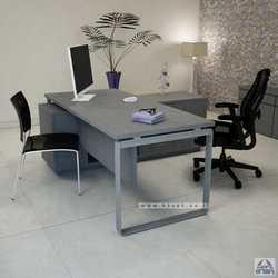 שולחן מנהלים פינתי שלוחת מנהל דגם NIRO רגל כסופה