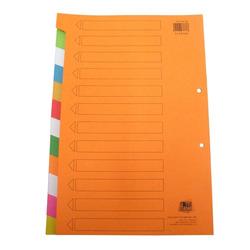 חוצצים קרטון הדר 1-12 צבעוני 240 גרם