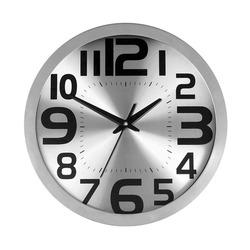 שעון קיר אלומיניום כסוף  ZA-2112