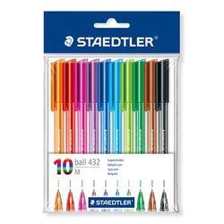 עט כדורי שטדלר staedtler 1 צבעוני 10 יח'