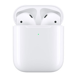 אוזניות ‏אלחוטיות Apple AirPods 2 with Wireless Charging Case אפל
