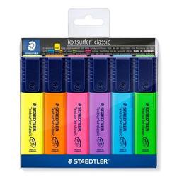 טוש הדגשה שטדלר סט 6 צבעים STAEDTLER SET