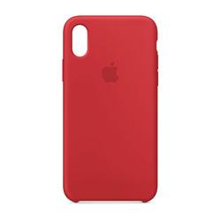 מגן כיסוי סיליקון iPhone X אדום