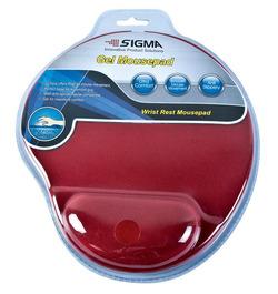 משטח לעכבר גל ארגונומי אדום SIGMA