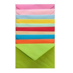 מעטפות צבעוניות במגוון צבעים 17/12.5 ס'מ