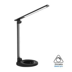 מנורת שולחן LED דקורטיבית - אופל שחור