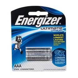 סוללות ליטיום 2 יח'  Energizer Ultimate AAA