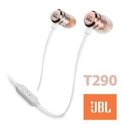אוזניות חוטיות JBL T290 זהב/אדום
