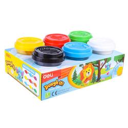 בצק משחק 6 צבעים 56 גרם deli H700