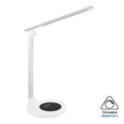 מנורת שולחן LED דקורטיבית - אופל כסוף לבן