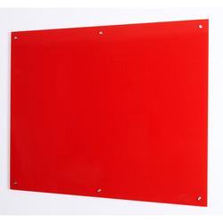 לוח זכוכית מחיק מגנטי אדום BI-OFFICE עובי 4 מ'מ