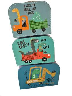 קופסאות שלישיית מזוודה עם ידית